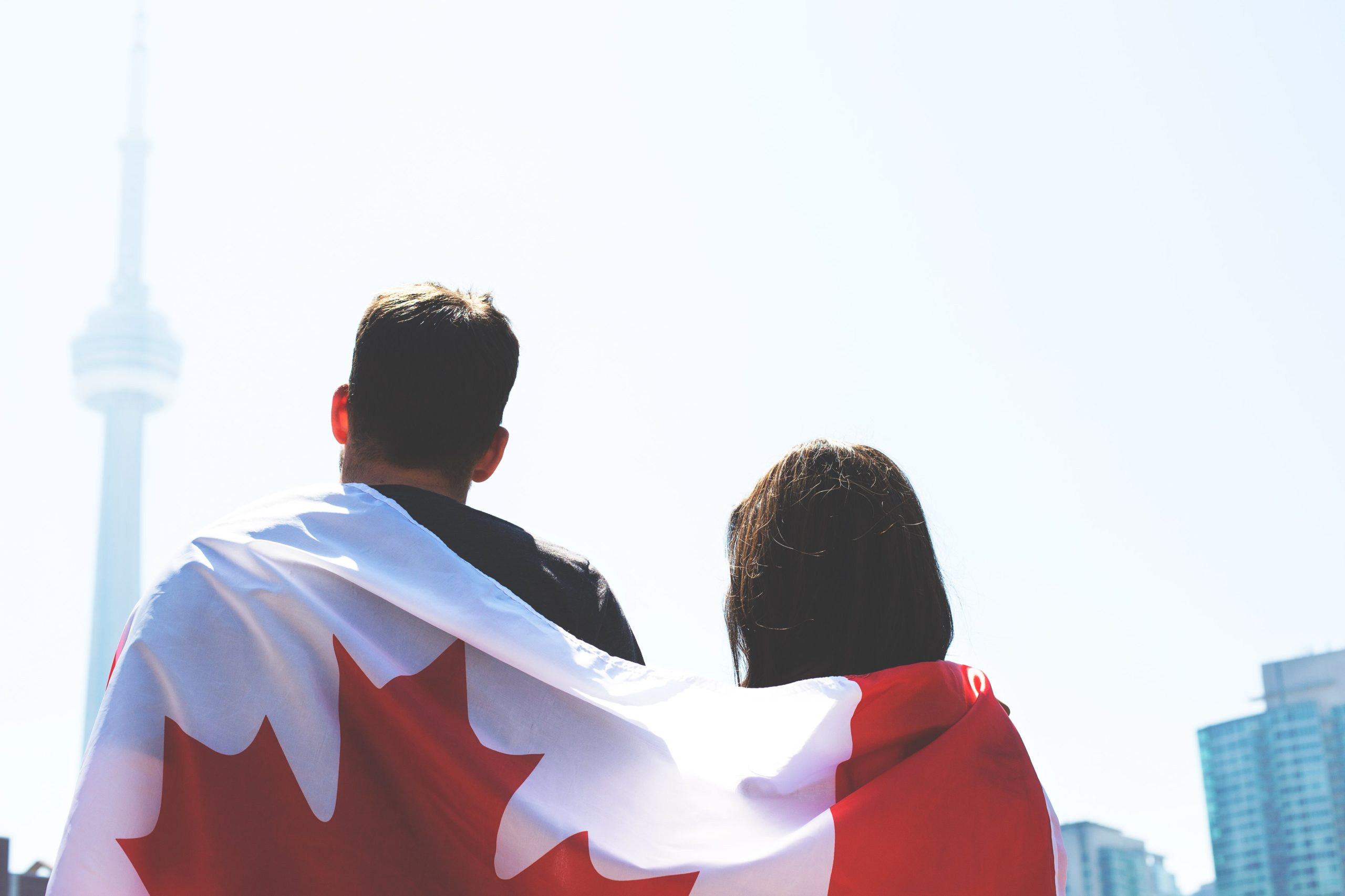 Could wearing a Canadian flag, Toronto