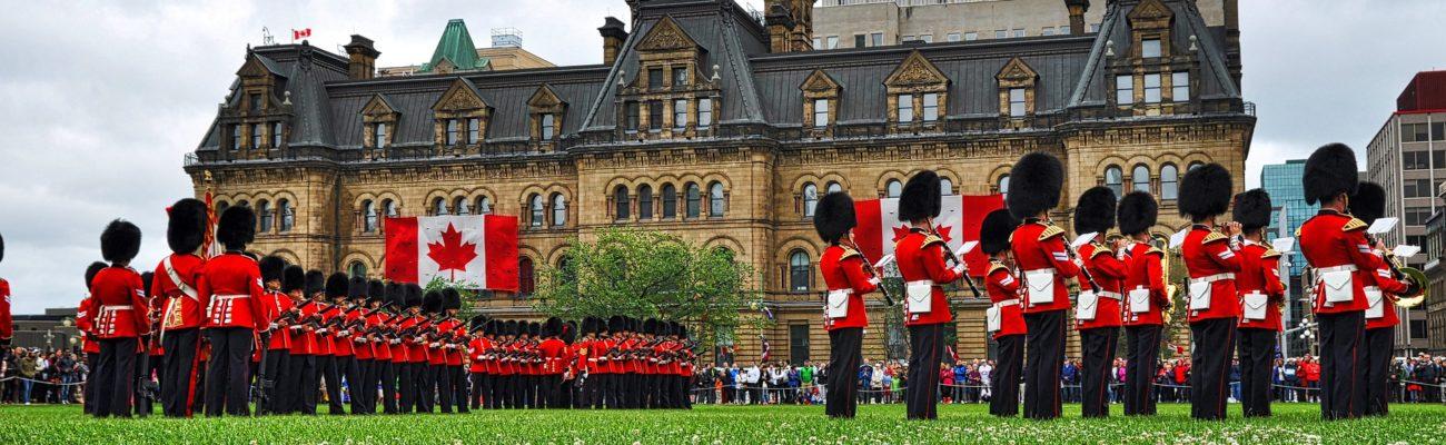 Ceremonial Guard on Parliament Hill, Ottawa