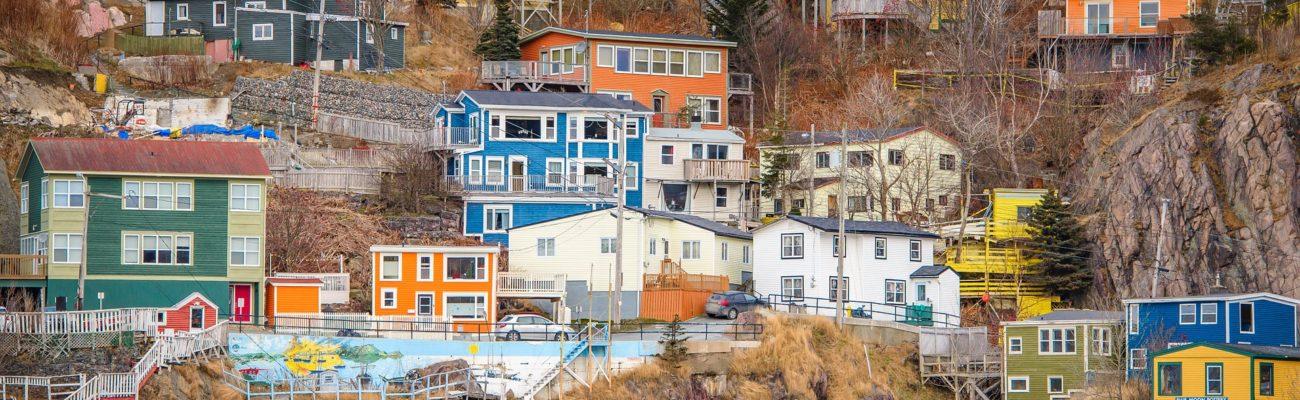 Colourful homes, St Johns, Newfoundland