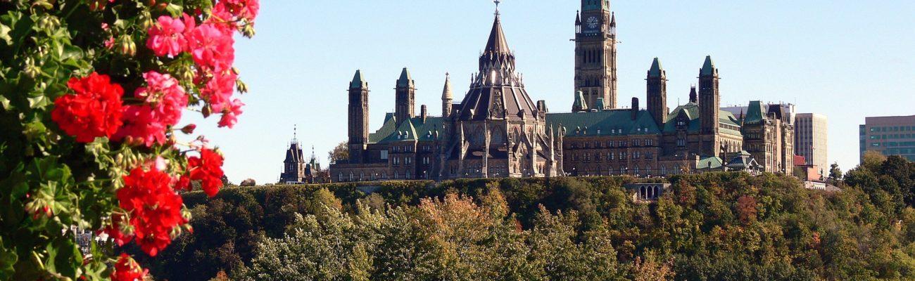 Parliament from across the Ottawa River, Ottawa