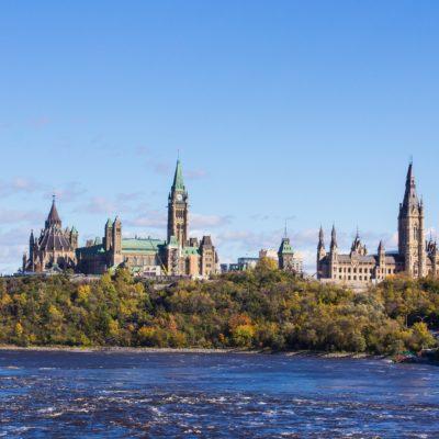 Parliament Hill from across the Ottawa River, Ottawa